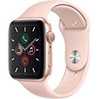 $338 » Apple Watch Series 5 (GPS, 44mm) - Gold Aluminum Case with Pink Sport Band