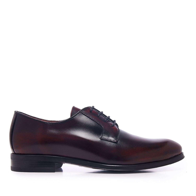 Castellanísimos C00098 Zapato Hombre en Burdeos de Piel Estilo Blucher con Cordones: Amazon.es: Zapatos y complementos