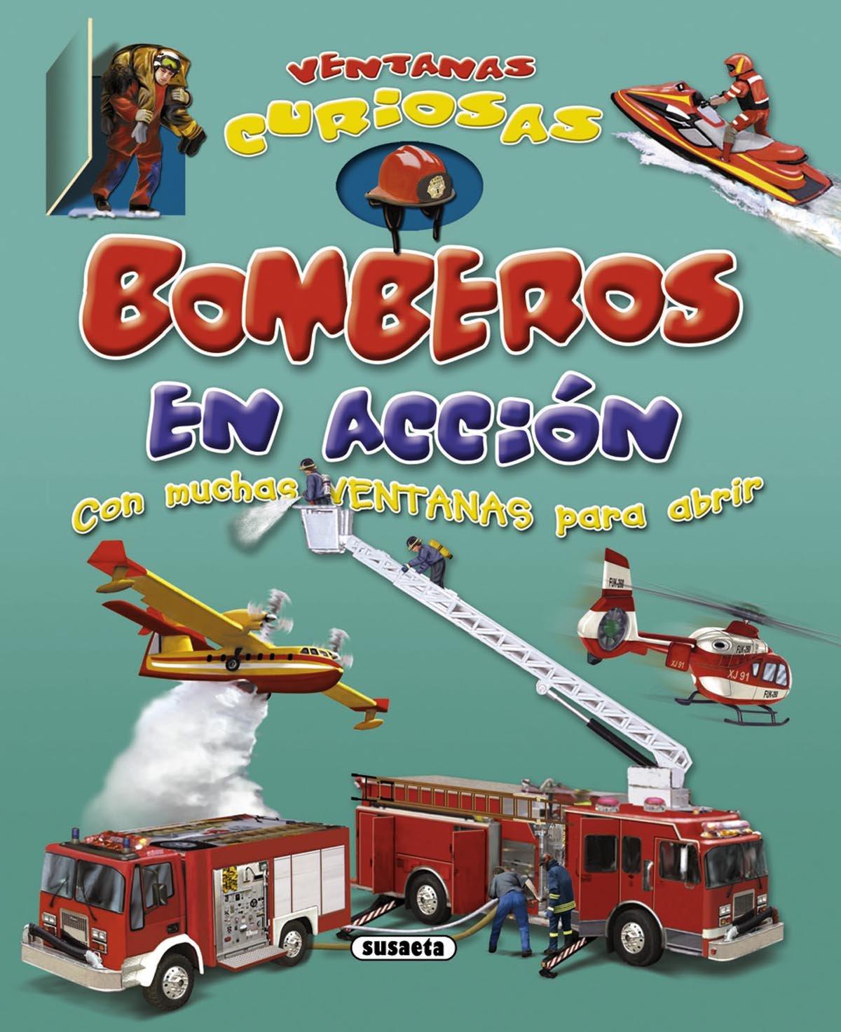 Download Bomberos en acción / Firefighter in action (Ventanas Curiosas / Curious windows) (Spanish Edition) PDF