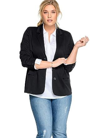 353f1d569080e Ellos Women's Plus Size Ponte Knit Button-Front Blazer at Amazon Women's  Clothing store: