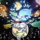 「令和元年最新版」スタープロジェクターライト 星空ライト スターナイトライト SYOSIN ベッドサイドランプ 海プロジェクター プラネタリウム 常夜灯 ロマンチック雰囲気作り 6セット投影映画フィルム 360度回転ライト USB充電式 お子さん・彼女にプレゼント 誕生日ギフト (ホワイト)