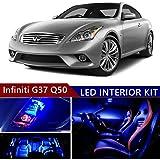 sky auto inc led premium blue light interior package kit for infiniti g37  q50 2013-