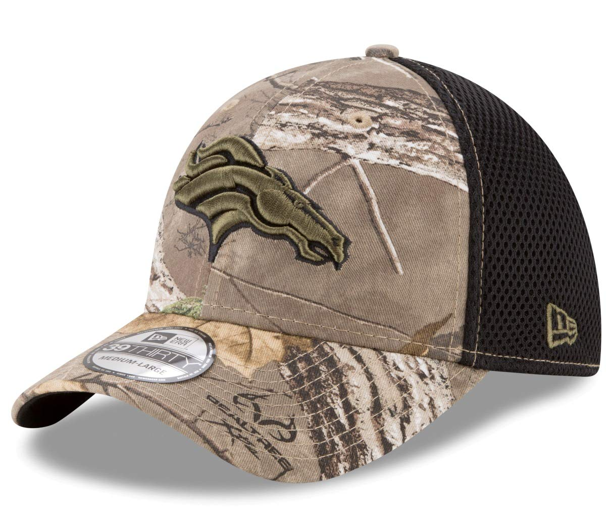 Amazon.com   New Era Denver Broncos NFL 39THIRTY Realtree Neo Flex Fit Camo  Hat   Sports   Outdoors 21d02333787