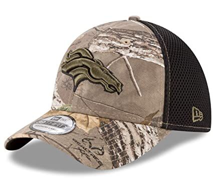 94add048 Image Unavailable. Image not available for. Color: New Era Denver Broncos  NFL 39THIRTY Realtree Neo Flex Fit Camo Hat