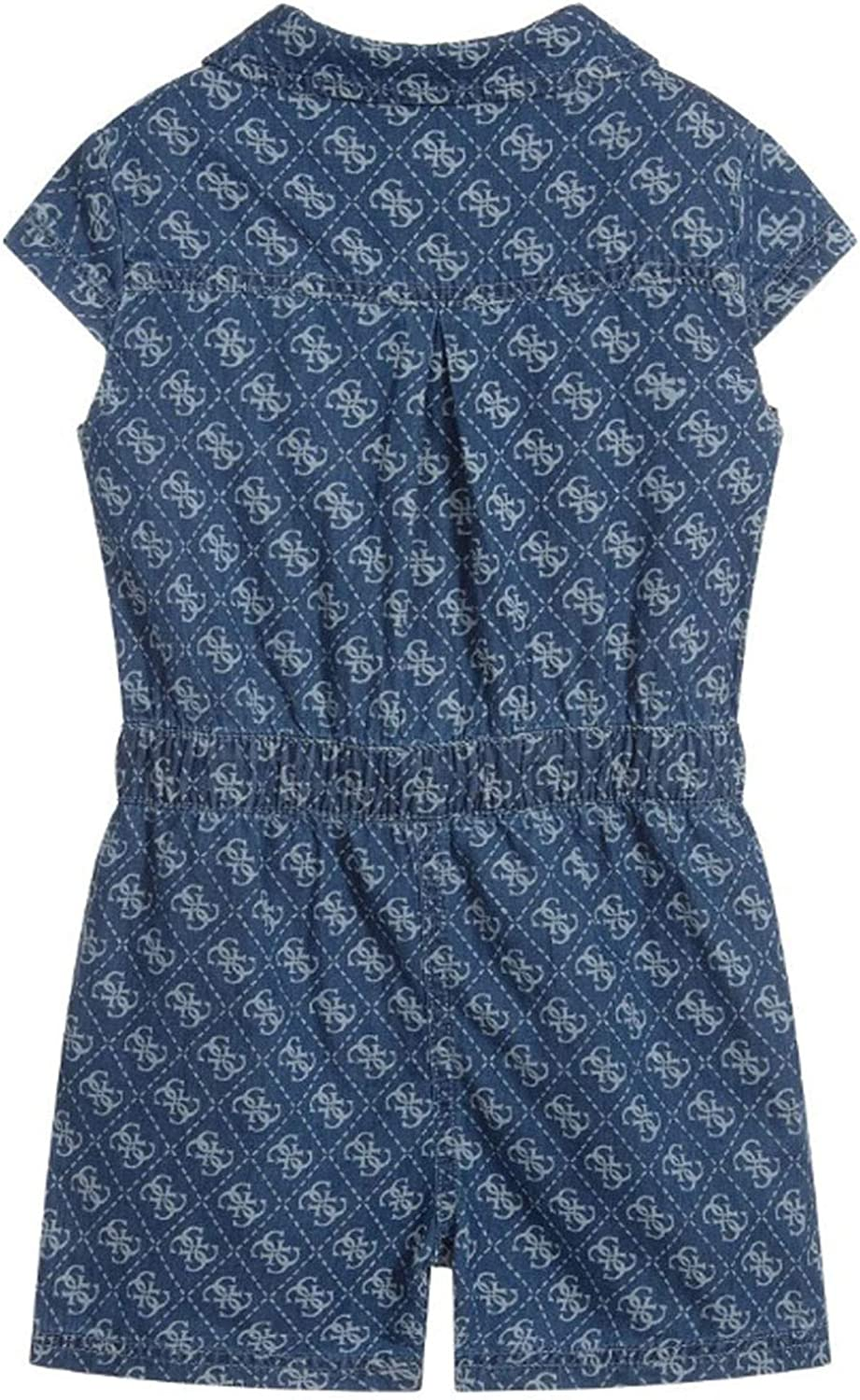 Guess Tutina Corta Shorts in Chambray Blu Denim Ragazza Bimba Bambina