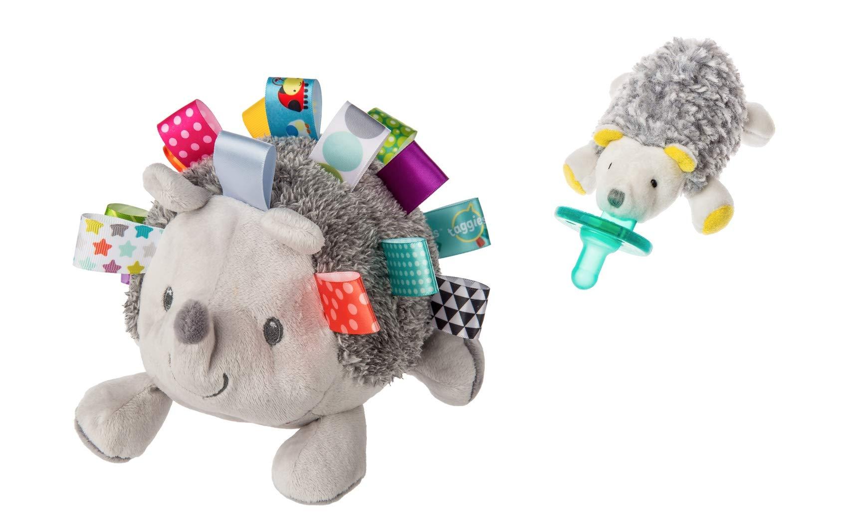 Mary Meyer Taggies Heather Hedgehog Soft Toy and Sunshine Hedgehog Wubbanub Pacifier Bundle (2 Items) by Mary Meyer