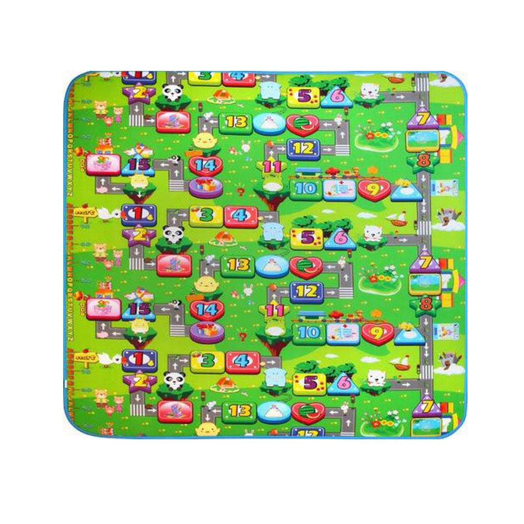 Double Side Baby Play Mats Infant Crawling Mats Children Gym Rugs Kid Toy Carpets Fruit Letters 5MM Thickness