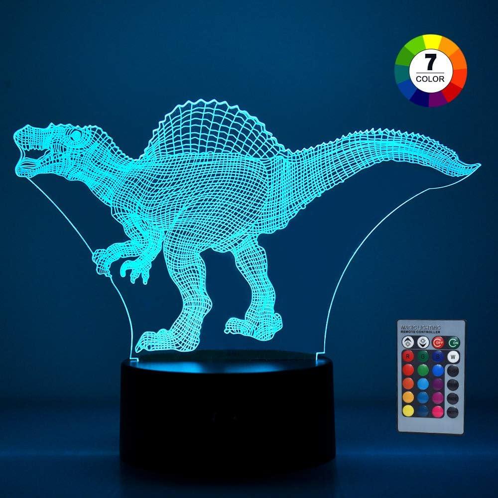 SOKY Veilleuse Dinosaure Illusion 3D Cadeau/&Jouet Enfant