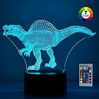 LetsGO toyz Dinosaurio 3D Luz nocturna para niños