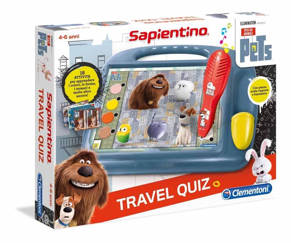 Clementoni Travel Quiz - Juego de viaje (versión italiana) Masha y el oso 11361 varios colores: Amazon.es: Juguetes y juegos
