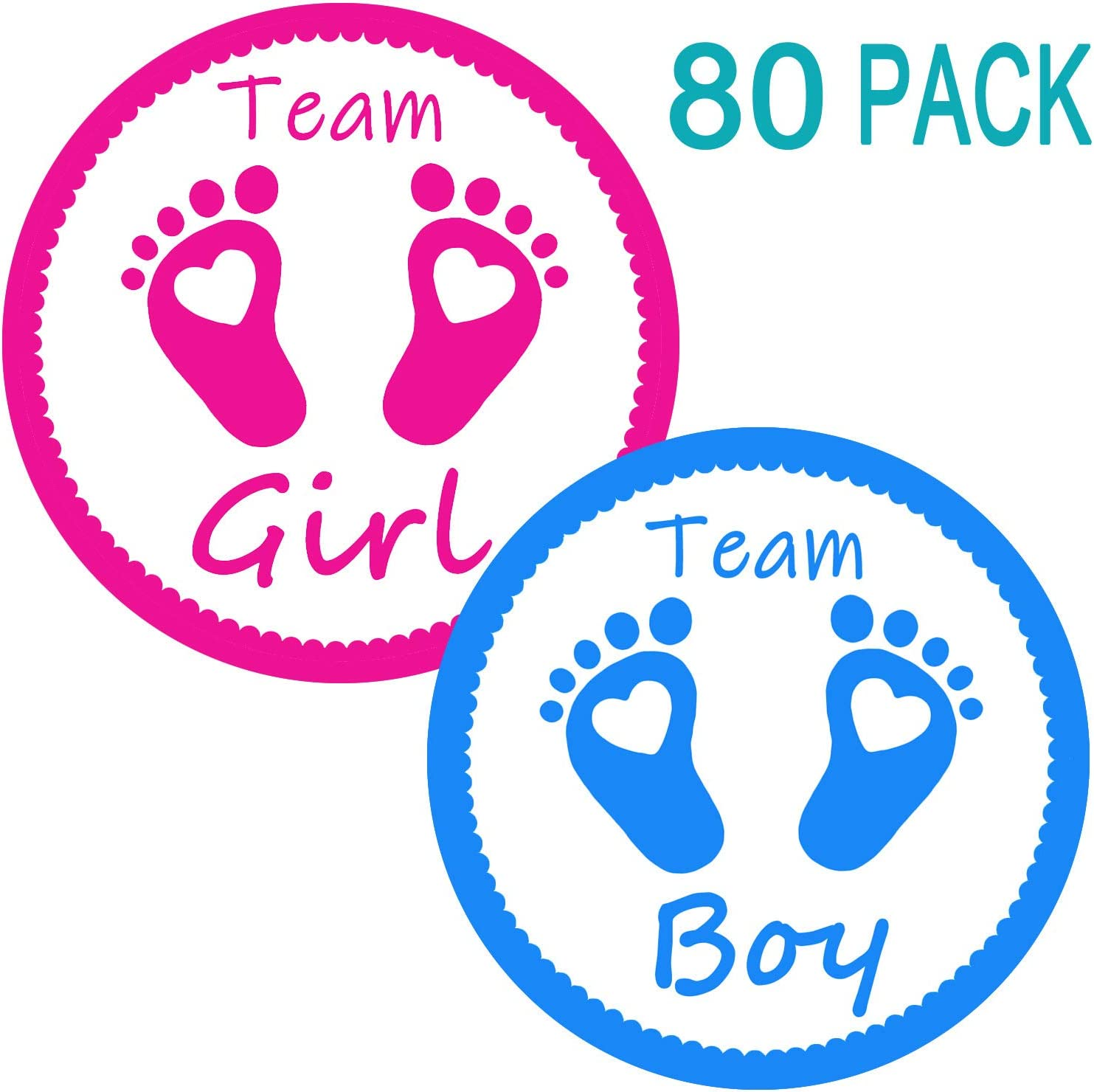 Gender Reveal Party Labels Baby Shower Voting Stickers 2.36 Inches Pink and Blue 120 Pack Team Girl /& Team Boy Stickers for Team Baby Shower Party Favors 60 of each design
