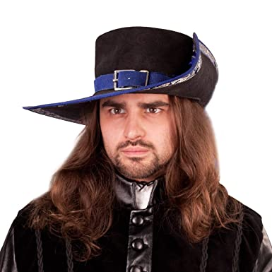 6e66cec32c6 Amazon.com  Suede Musketeer Renaissance Hat  Clothing