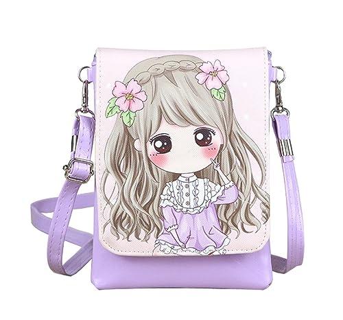 Amazon.com  Teens Girls Kids Students Cute Cartoon Theme Mini Shoulder Bags  Cross Body Bags Key Money Cell Phone Holder Case Purse Small Wallet Pouches  ... d105517631796