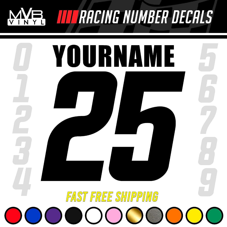 Racing Numbers Vinyl Decal Sticker 0502 Plate Numbers Style 5