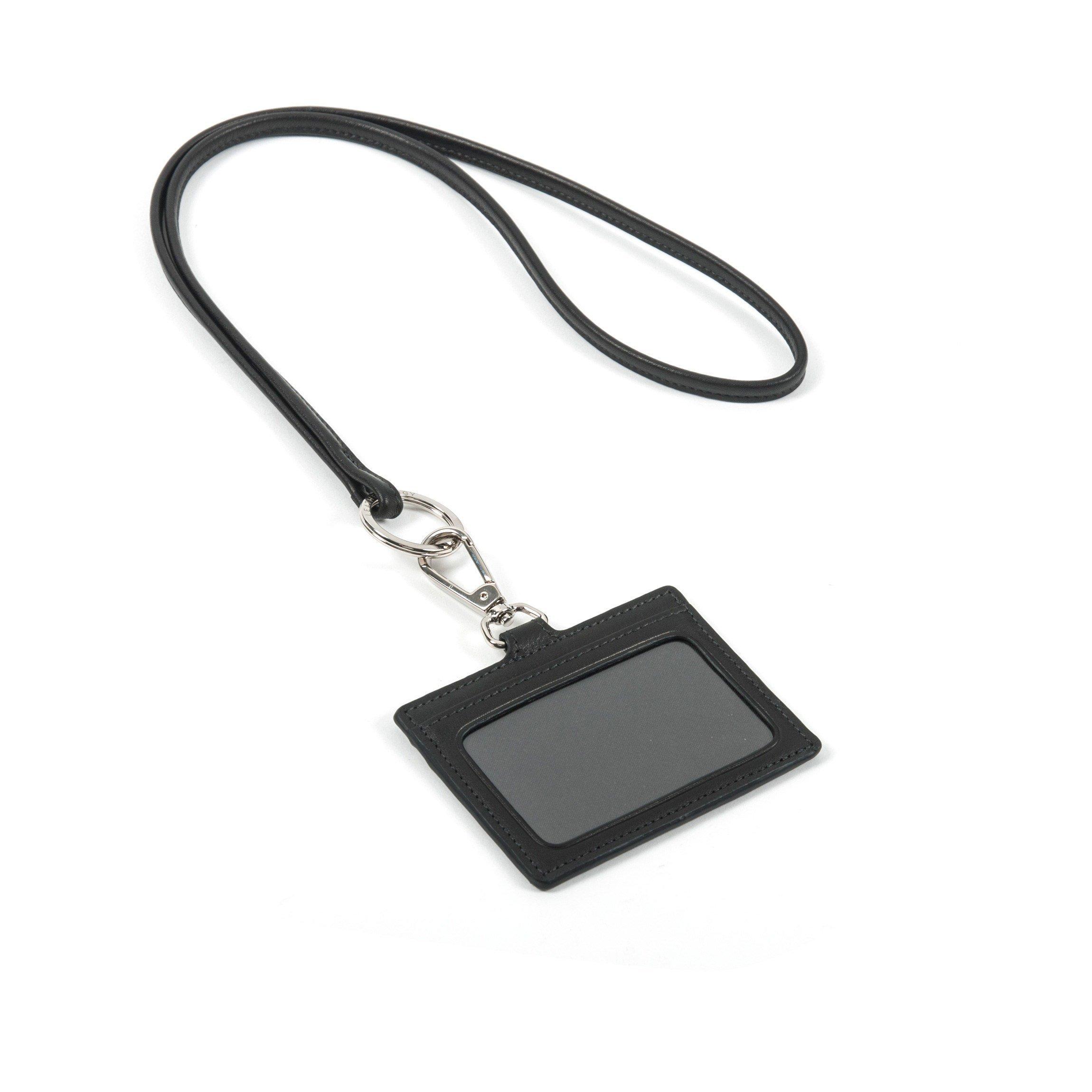 Horizontal Lanyard - Full Grain Leather - Black Onyx (black)