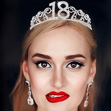 Frcolor Diadema de Princesa Tiara Crown Crystal Diadema ...
