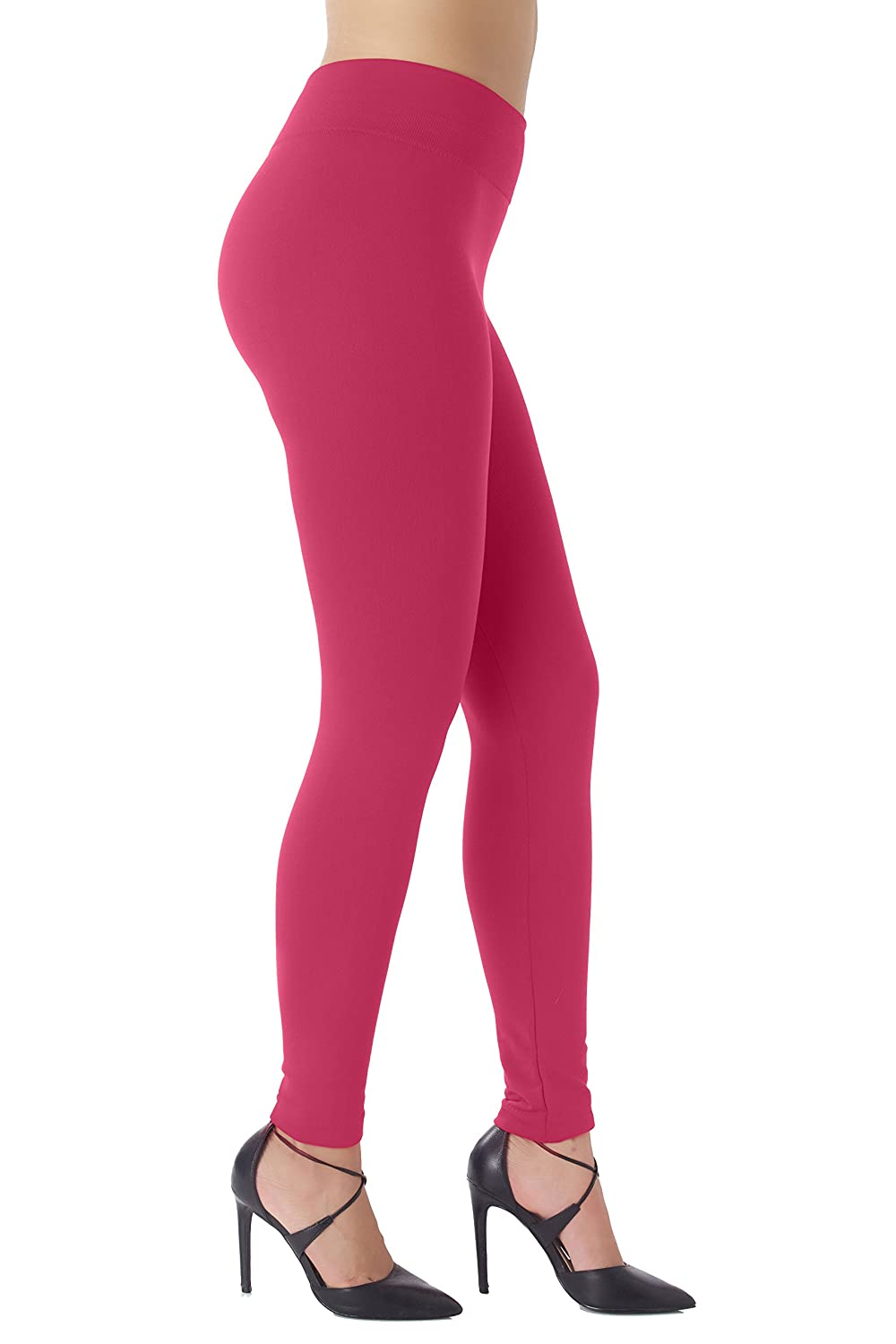 Ultrasoft Premium Quality NYFC Warm Fleece Lined Leggings for Women High Waisted Slimming 10 Winter Colors