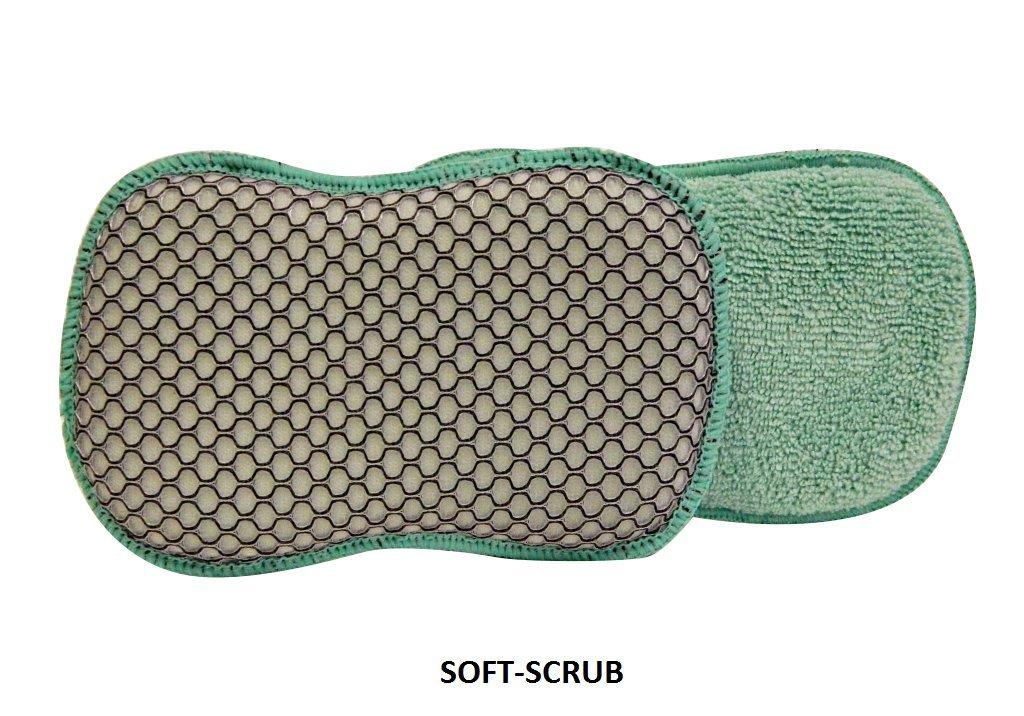A&H SOFT-SCRUB Microfiber Cleaning Sponges, (12 Pads)