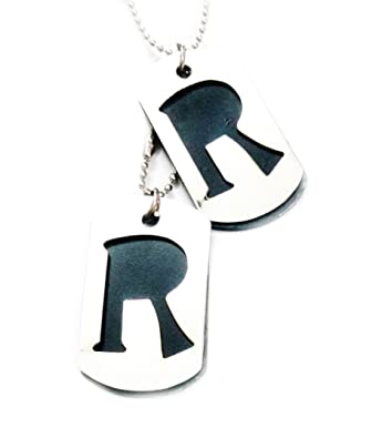 R name steel double locket pendant with chain necklace for men r name steel double locket pendant with chain necklace for men thecheapjerseys Gallery