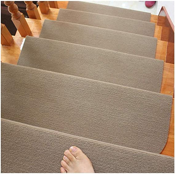 5pcs Alfombra de la escalera Mats, antideslizante/durable/Protección, Escalones alfombra antideslizante cubierta Copia de huella de peldaño Alfombras alfombras de goma, múltiples colores,Grey- 50cm x 20 cm x 4cm: Amazon.es: Hogar