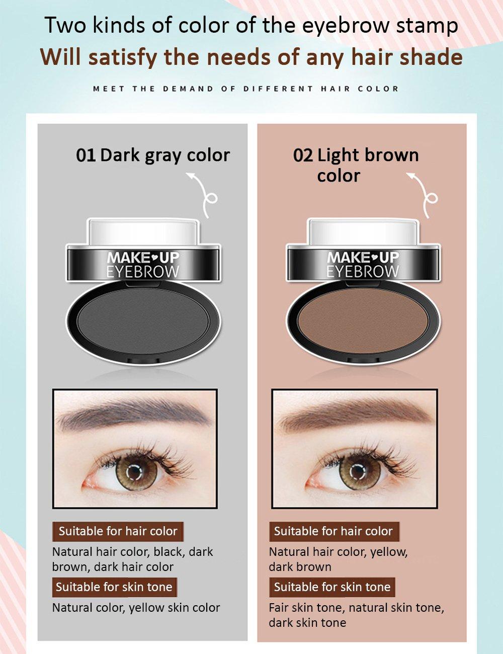 Amazon Bioaqua Brow Stamp Powder Light Brown Dark Gray Natural