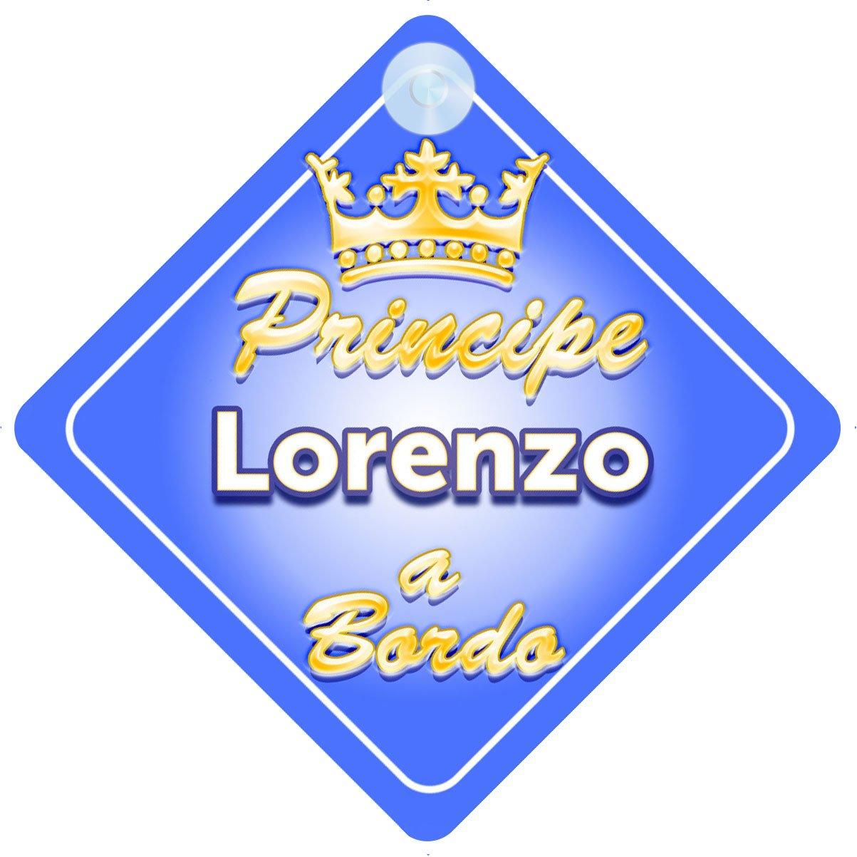 Corona (Crown) Principe Lorenzo / adesivo bimbo / bambino / neonato a bordo per maschi principe / principino adesivo macchina Quality Goods Ltd