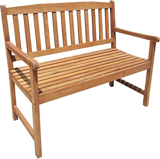 Banco de madera de acacia de 2-3 plazas para jardín o terraza: Amazon.es: Jardín