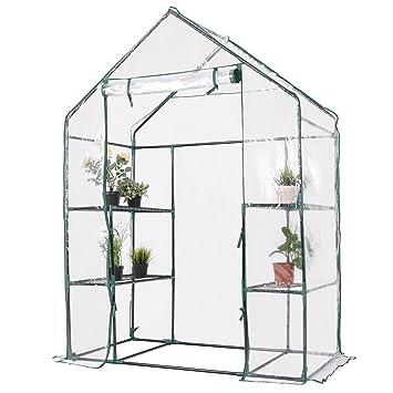 Yongtaifeng Mini Serre de Jardin Maison 143x73x195cm 3 Étages Tente ...