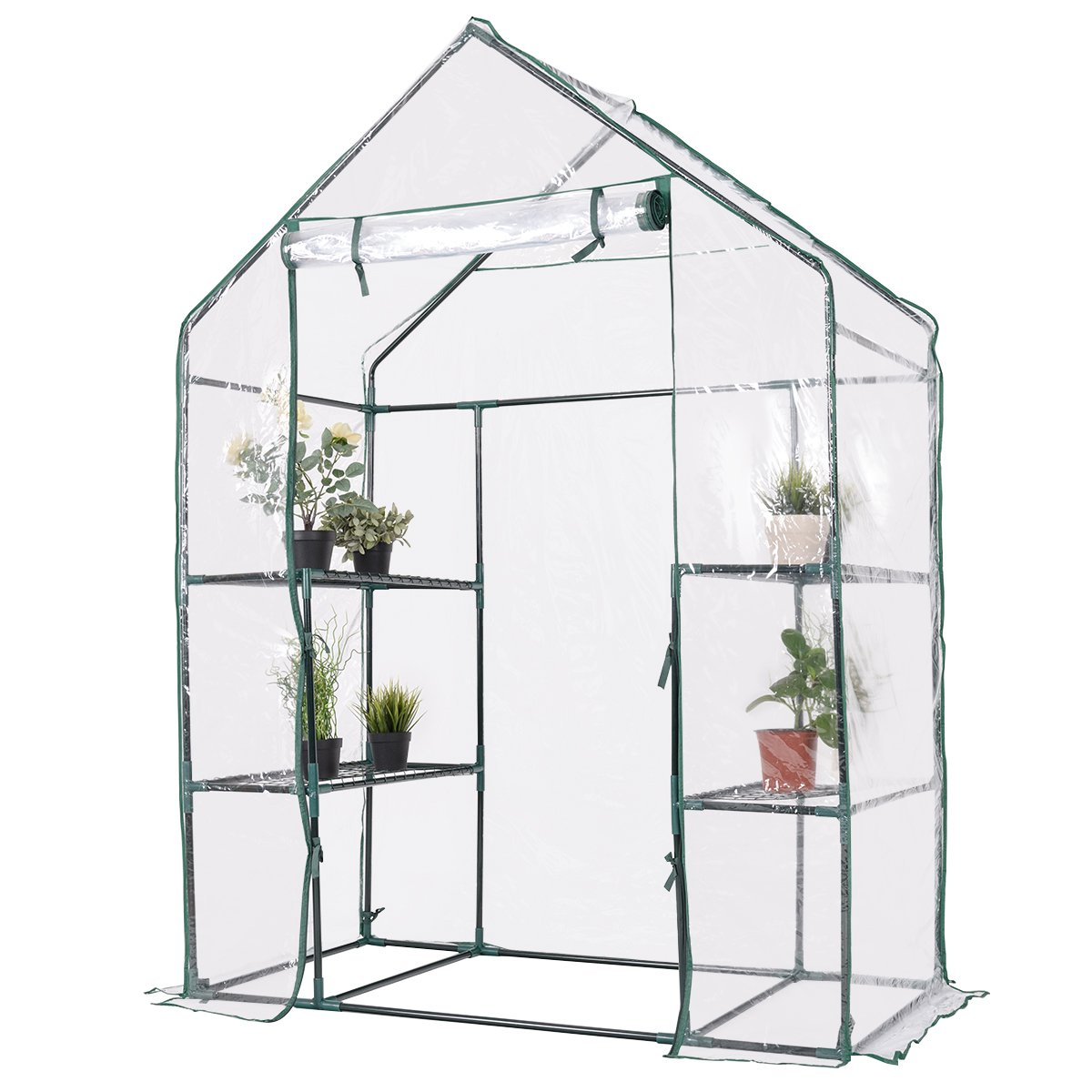 Giantex Portable Mini Walk In Outdoor 3 Tier 6 Shelves Greenhouse by Giantex