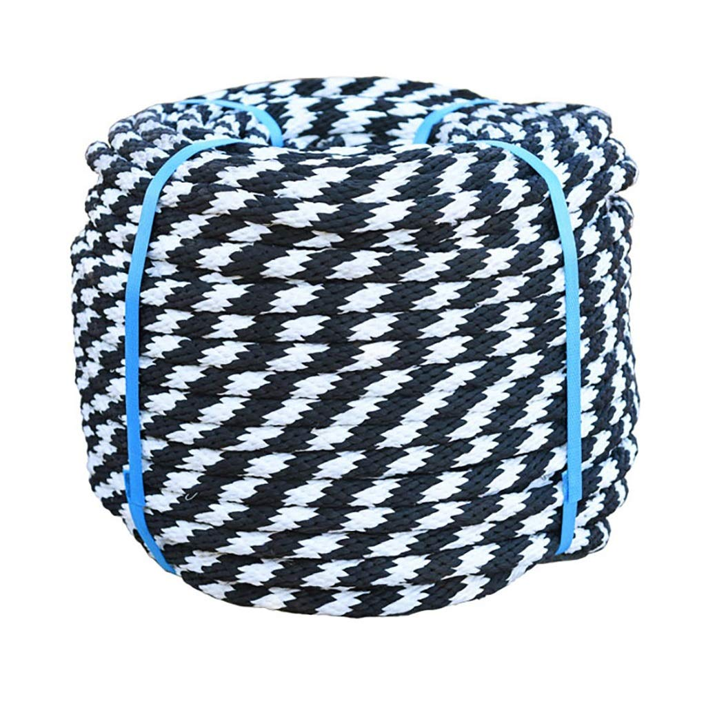 クライミングハーネス 14 mm白黒ナイロンロープ、耐摩耗性日焼け止め屋外結束ロープ (色 : 14mm - 100m)  14mm - 100m B07R512D5Q