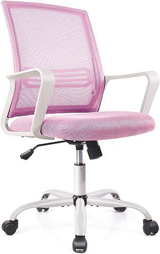 Home Office Chair Computer Desk Ergonomic Mid Back Mesh Lumbar Support Armrest Executive Rolling Swivel