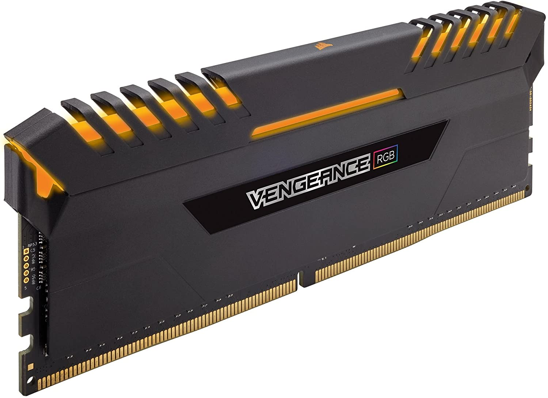 Corsair Vengeance RGB Kit di Memoria Illuminato RGB LED Entusiasta 64 GB (4x16 GB) DDR4 3300 MHz, C16 XMP 2.0, Nero