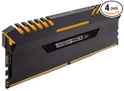 CORSAIR Vengeance RGB 64GB (4x16GB) DDR4 3600MHz C18 Desktop Memory - Black