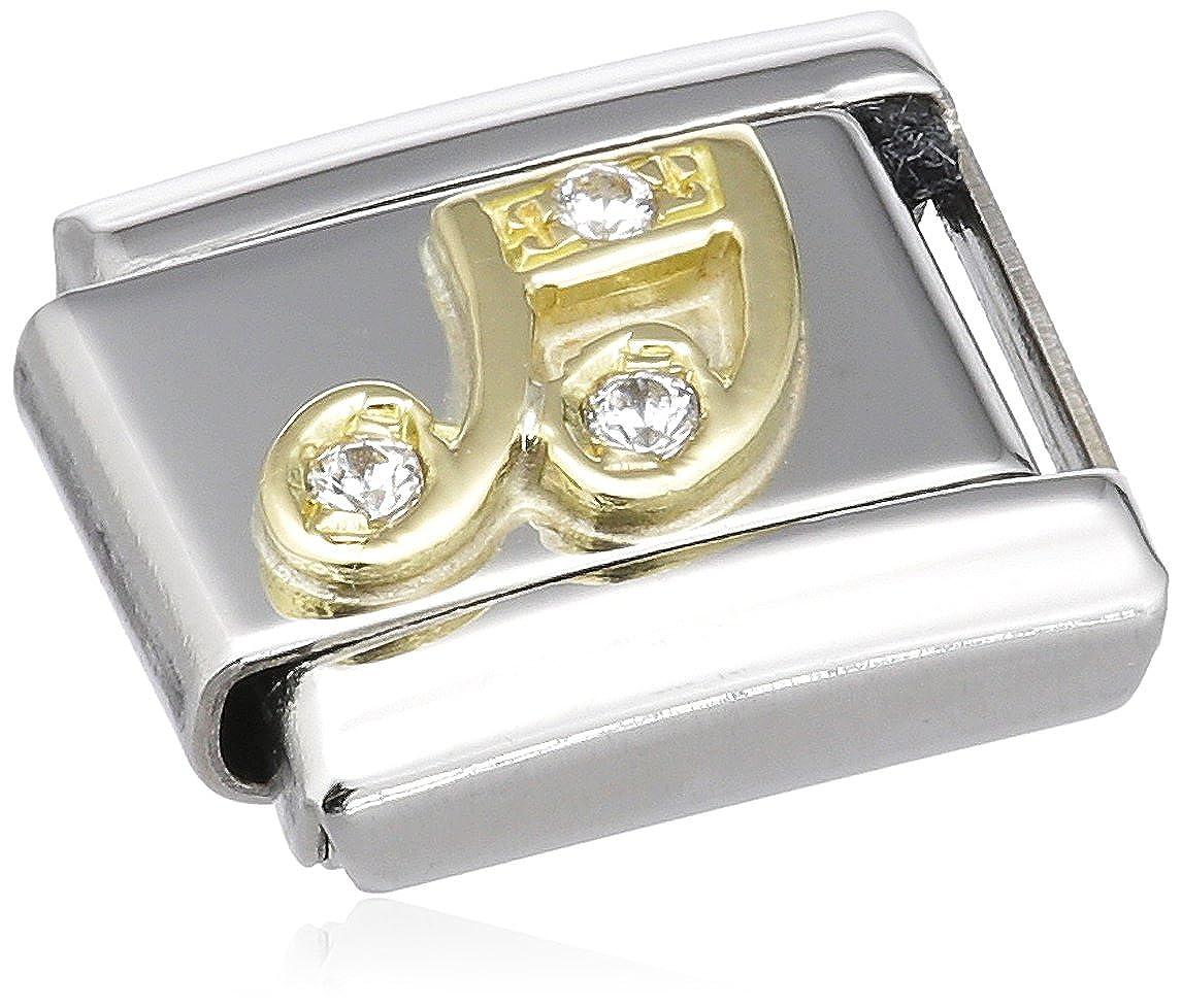 Nomination 030308 - Maillon pour bracelet composable Mixte - Acier inoxydable et Or jaune 18 cts
