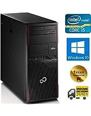 PC COMPUTER DESKTOP FISSO TOWER CON WINDOWS 10 PRO INSTALLATO | FUJITSU ESPRIMO P710 QUAD CORE i5-3470S | RAM 8GB | HDD 500GB | LETTORE DVD | USB 3.0 | DVI - DISPLAY PORT (Ricondizionato)
