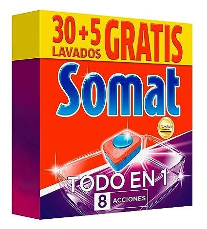 Somat Todo en 1 Pastillas Lavavajillas - 35 Dosis: Amazon.es ...