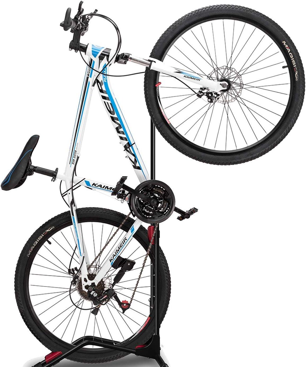 Indoor Bicycle Storage Mount(fit 20-27 Inch Bikes),Road Bike Storage ZUKVYE Bike Rack Floor Stand Space Saving