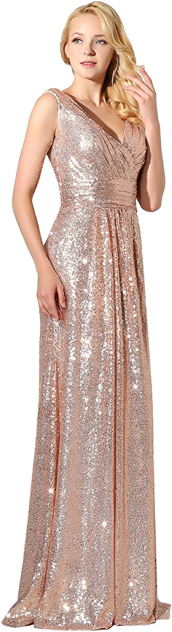 Sarahbridal Glitter Floor Length V Neck Evening Dresses With Sequins Party Dresses Party Dresses Ssd351 Small Amazon Co Uk Clothing