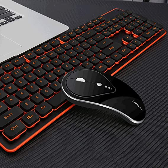 Internet Cafe Esports Game Equipment Game Dedicated HUIJUNWENTI Illuminated Keyboard and Mouse Set Waterproof Office Color : Black