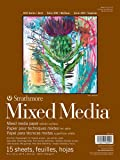 Strathmore Mixed Media Paper Pad, 9 by 12-Inch, 15 Sheets