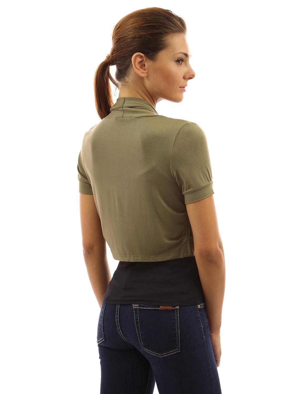 PattyBoutik Donne lati pieghe bolero scrollata di spalle