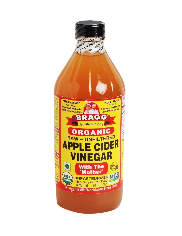 Bragg USDA Gluten Free Organic Raw Apple Cider Vinegar w/ Mother   Pack of 1 16oz