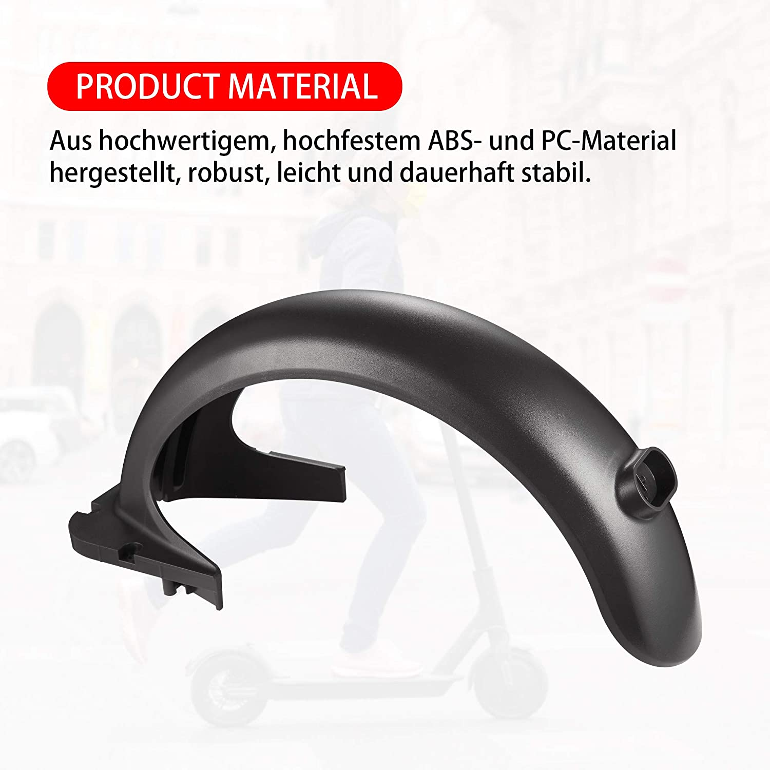 TOMALL Scooter Fender Rear Mudguard Fender Bracket Compatible with Ninebot Max Scooter Replace Parts Accessories for Max G30 Electric Scooter