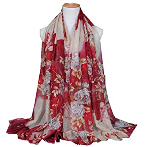 Viaa7swa Fashion Women Printed Floral Scarf