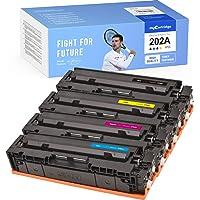 myCartridge Compatible Toner Cartridge Replacement for HP 202A CF500A CF501A CF502A CF503A (1BK 1C 1Y 1M, 4PK) Fit for…