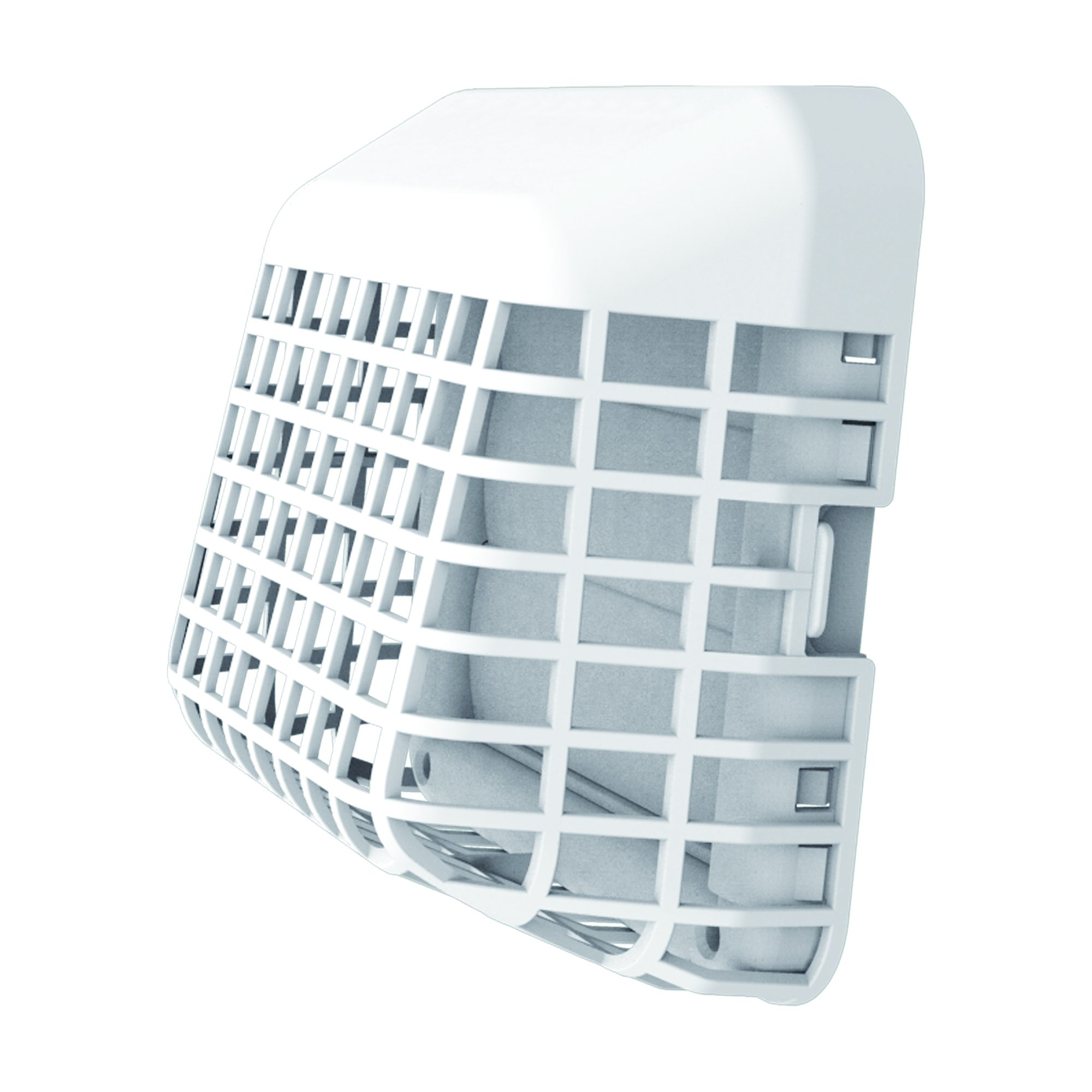 Deflecto Easy Clean Louvered Dryer Hood with Bird Guard, 4 Inches Hood, White (GH4WEC/2) by Deflecto