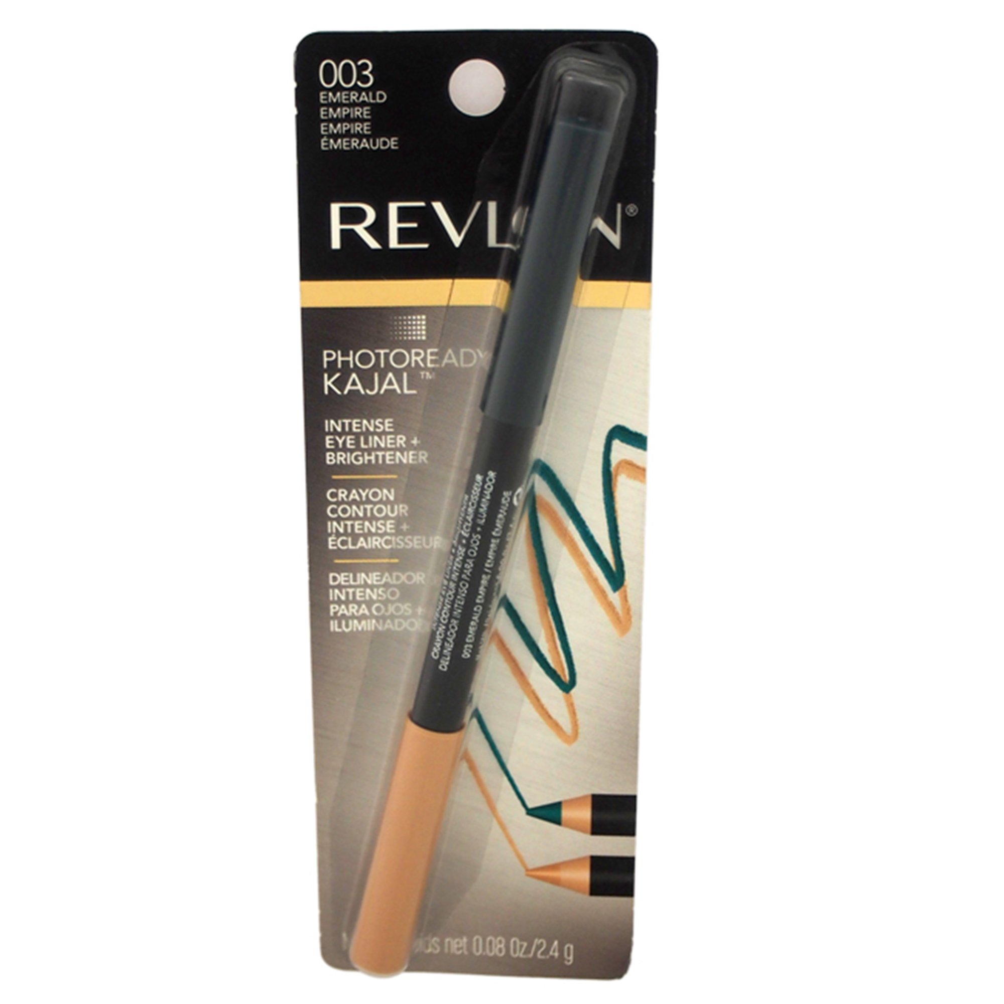 Revlon Photo Ready Kajal Intense Eye Liner & Brightener - Emerald Empire - 0.08 oz