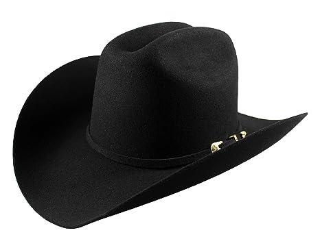 bce3343626b El General Men s Cowboy Hat Texana 100X Horma Julion Color Black Wool (6 ...