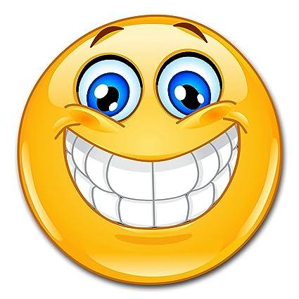 Easydruck24de 1 Smiley Aufkleber Smile I Kfz296 I Rund ø 10 Cm I Emoticon Sticker Lachend Für Laptop Tür Motorrad Roller Auto I Wetterfest