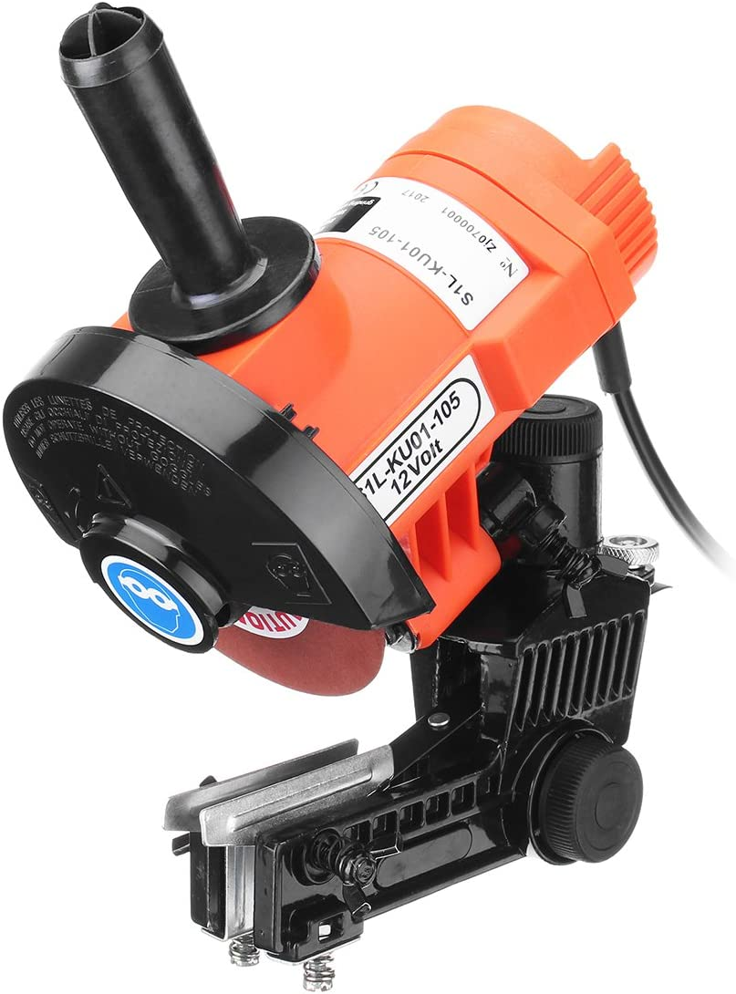 HD ELECTRIC CHAINSAW SHARPENER GRINDER CHAIN SAW BENCH MOUNT W BRAKE AND WHEEL